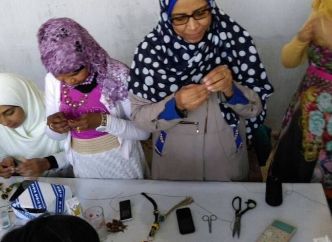ورش عمل لتطوير مهارات عاملات الحرف اليدوية والمنافسة عالميا
