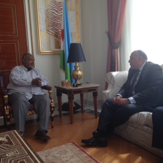 شكري يبحث مع رئيس جيبوتي تأمين الملاحة الدولية في باب المندب والبحر الأحمر