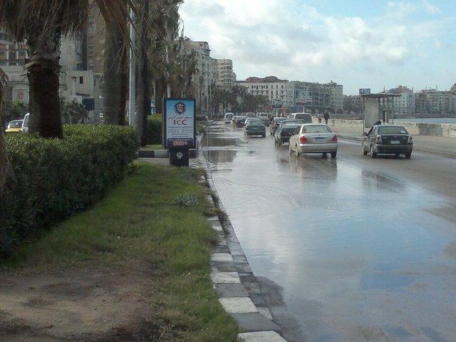 رفع حالة الطوارئ بالاسكندرية بعد تعرضها لعاصفة ثلجية