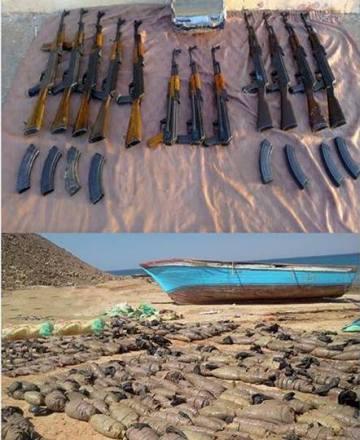 الجيش يحبط محاولة تهريب أسلحة ومواد مخدرة بنطاق المنطقة الغربية والجيش الثالث الميداني