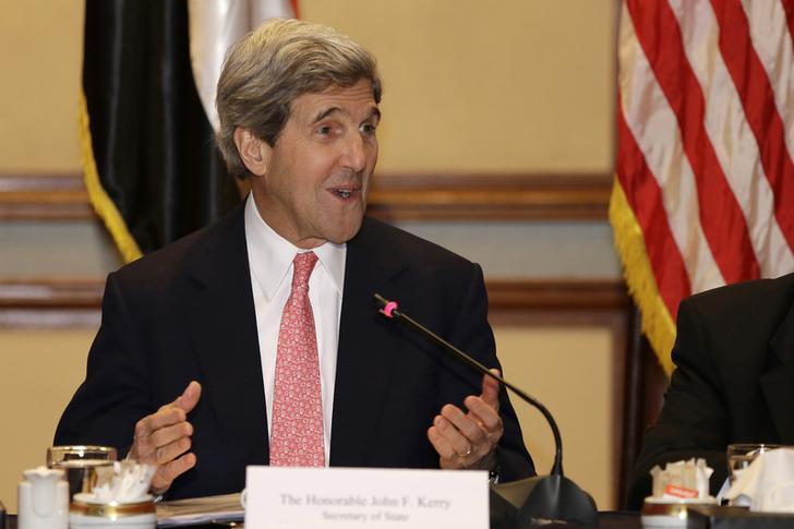 كيري يؤكد على ضرورة حل الدولتين لإنهاء النزاع الفلسطيني الإسرائيلي